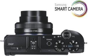 Samsung EX2F - kompakte Digitalkamera von oben