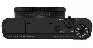 Sony DSC-RX100 Cybershot - Digitalkamera  von oben